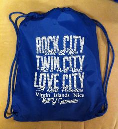 Drawstring bag by natty #virginislandsnice