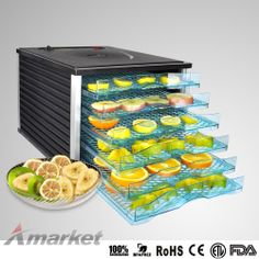 New 6 Tray Food Dehydrator Commercial Preserve Fruit Jerky Dryer Thermostat 600W