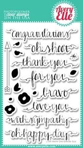 Avery Elle Clear Stamps OH HAPPY DAY Set 020559