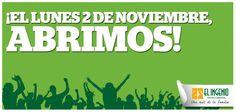¡#JUEVES DE BUENÍSIMAS NOTICIAS Y ES QUE EL LUNES 2 DE NOVIEMBRE, #ElIngenio ABRE SUS PUERTAS! ¡EL LUNES 2 DE NOVIEMBRE, ABRIMOS!