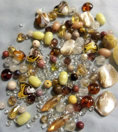 glass beads shell beads mixed lots bead by RosariesbyEsther