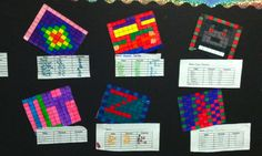 Fractions, Decimals, Percents of colors in pictures (with worksheet)