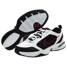 c74a5e07cdd39 Nike AIR MONARCH IV Mens White Black Red 101 Lace Up Running Training Shoes