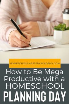 How to Be Mega Productive with a Homeschool Planning Day - Let us help you master homeschool planning! #homeschool #homeschoolplanning #homeschooltips #planningday Kindergarten Homeschool Curriculum, Homeschool High School, Homeschooling, Lessons Learned, Goals, Super Simple, Parenting Tips, Hacks, Education