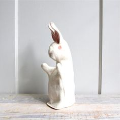 Vintage Felt Bunny Hand Puppet