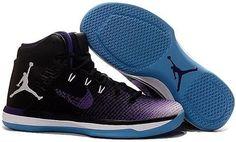 7a657a9d9e0c24 Shop 2017 Air Jordan Black Purple White Blue Basketball Shoes Lastest black