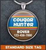 Show off your furry friend's unique personality with a hand-crafted identification tag! www.awpaws.com