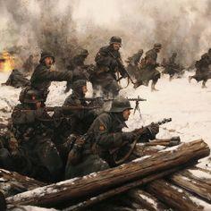 Voljov 1943 Spanisch Division. Painted by Augusto Ferrer Dalmau