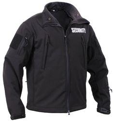 Men's Black Special Ops Soft Shell SECURITY Tactical Jacket Waterproof Coat