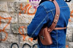 Oil tanned Leather shoulder Holster bag Handmade by Celyfos