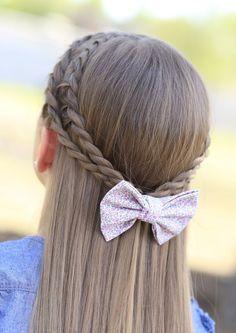 Cute 5-Minute Hairstyles - Rope Braid Tieback Hairstyle.