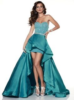 Panoply - 14816 Versatile Sweetheart Ruffled High- Low Evening Gown  Long  Prom Dress ( 702d60376