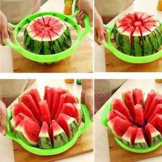 Watermelon Cutter Cantaloupe Melon Slicer Stainless Steel Kitchen Fruit Divider for sale online Watermelon Cutter, Watermelon Slicer, Cut Watermelon, Cantaloupe And Melon, Spiral Vegetable Slicer, Noodle Maker, Vegetable Chopper, Potato Vegetable, Cuisine
