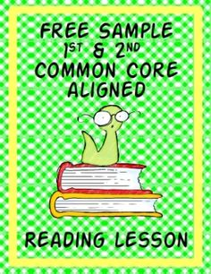 Free printable - reading lesson aligned with 1st & 2nd Common Core Standards. by elliebelly
