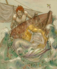 Fairy tale by Der Papierteufel, via Behance The fisherman and his Soul