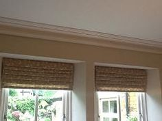 Roman blinds look so smart, either up or down.