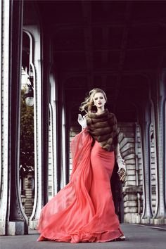 """Paris,"" for Vainty Fair Italia by Signe Vilstrup; if I ever have a formal event in the winter"