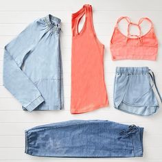 Chambray all day! #workoutclothes #activewear