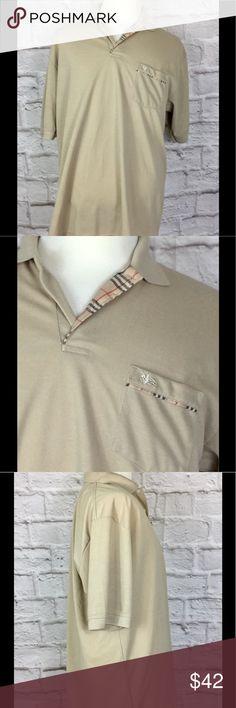Burberry mens XL khaki nova plaid polo shirt Excellent used condition. No holes or stains. No visible wear. Burberry  Shirts Polos