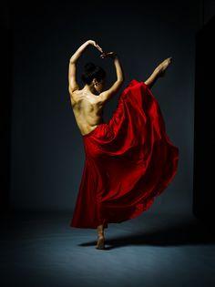 NZ Dancer Sarah Lauder in Red on Behance