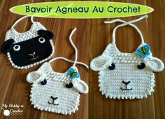 My Hobby Is Crochet: Bavoir Agneau au Crochet - Patron Gratuit