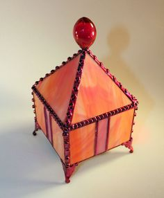 Jewelry Box Stained Glass Box Fairy Box Pyramid by SisterArtGlass