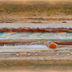 After five years of travel to Jupiter, NASA's Juno spacecraft entered into the massive planet's orbit late last night. For a sense of scale, the Great Red Spot you can see here at right is far larger than all of planet Earth! Jupiter was most likely the first planet formed after our sun and the technology aboard Juno could lead us to have a better understanding of the origins of our solar system. This Overview was created from a composite of imagery from the Hubble Telescope — Daily Overview
