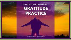 Gratitude Practice: A Guided I am Grateful for Meditation Short Guided Meditation, Mindfulness Meditation, Meditation Youtube, Practice Gratitude, I Am Grateful, Healthy Mind, Affirmations, Positivity, Ayurveda
