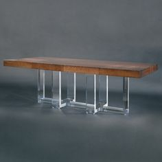 Allan KnightAcrylic   Dining and Game Tables   Ribbon Cross Dining Table