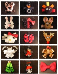 For my friends who do this kind of thing....feel free to make my kids some cause I'm soooo not good @ that LOL!!!   Cute Ideas with ribbon