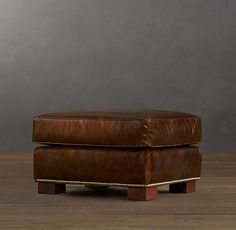 Easton Leather Ottoman | Ottomans | Restoration Hardware