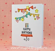 Happy Birthday Cake! #Clean and #Simple #Card