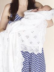 Free knitting pattern Royal Baby Shawl / Blanket Project- Simple and Gorgeous…