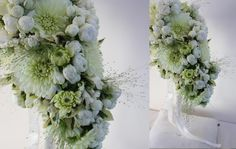 white and green bouquet.. love this!