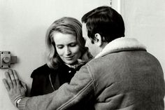 "Jean-Louis Trintignant, Marie-Christine Barrault, in ""Ma nuit chez Maud"" (1969). Director: Éric Rohmer."