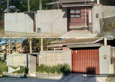 1|2 CASA MF - Projeto executado - Reforma de muro visando a melhor circulação de ar no interior do lote e maior visibilidade da rua, além da troca do revestimento do passeio.  #muro #casa #cobogó