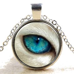 Abstract Art Modern Tibet silver Dome Glass Cabochon Necklace chain Pendant #21