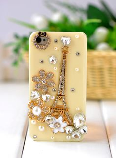 $ 13.99 Eiffel Tower Rhinestone Hand Made Hard Case for iPhone 5/iPhone 4/4s