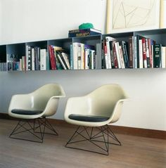 Eames and metal shelving