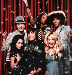 The High School Musical Cast--i love how there all like family <3