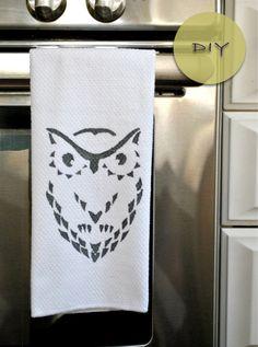 My Owl Barn: DIY: Owl Towel