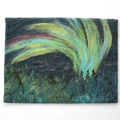 Northern Lights III Art Quilt Needle Felted and von KathyKinsella Quilted  Wall Hangings 18e16f8007