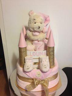 Castle diaper cake
