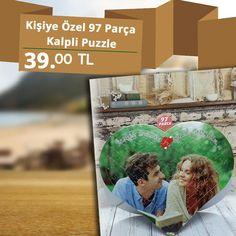 Kişiye Özel Kalpli Puzzle ile Ölümsüz Anlar Parmaklarınızn Ucunda: Spariş İçin:http://bit.ly/2intsif #hemenposter #puzzle #kişiyeözelhediyeler #kişiyeözelpuzzle #97parçapuzzle #kalplipuzzle