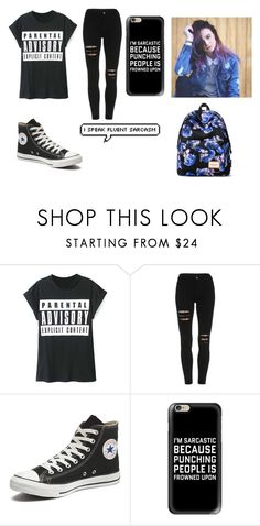"""school worthy.defiinietly would wear this"" by robin-987 ❤ liked on Polyvore featuring WithChic, Converse, Casetify and Mr.ace Homme"