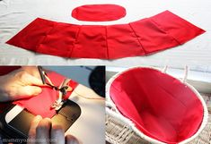 In this DIY tutorial, we will show you how to make Christmas decorations for your home. The video consists of 23 Christmas craft ideas. Good Tutorials, Sewing Tutorials, Sewing Projects, Crochet Fabric, Fabric Yarn, Basket Liners, Creation Couture, Wholesale Bags, Baby Sewing
