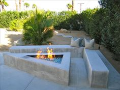 Great idea for fire pit area