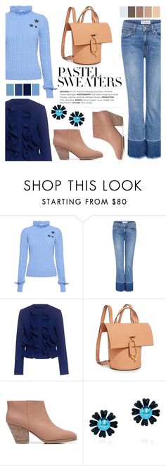 """""""So Sweet: Pastel Sweaters"""" by ifchic ❤ liked on Polyvore featuring RED Valentino, 10 Crosby Derek Lam, MSGM, ZAC Zac Posen, Rachel Comey, Kenzo, contestentry, pastelsweaters and ifchic"""
