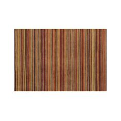 Gianni Rust Hand Knotted Wool 6'x9' Rug - Crate and Barrel