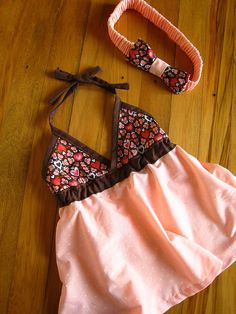 So cute, but add a little piece of fabric in the center for modesty